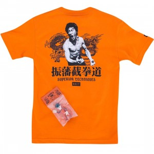 BAIT x San Francisco Giants x Bruce Lee Bundle - Superior Techniques Tee (orange / black)