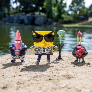 BAIT x SpongeBob 4 Inch Figure Set Of 4 - SpongeBob Patrick Squidward Mr Krabs (multi)