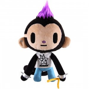 Tokidoki Punkstar Maxx Plush Toy (black / white)