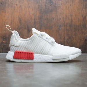 Adidas Men NMD R1 (white / off white / lush red)