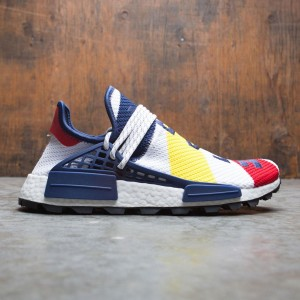 Adidas x Pharrell Williams Men HU NMD BBC (white / scarlet / bright yellow)