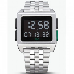 Adidas ARCHIVE_M1 Z01-3043-00 Watch (silver / silver metallic / black / gold green)
