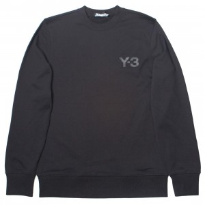 Adidas Y-3 Men Classic Logo Front Crew Sweater (black)