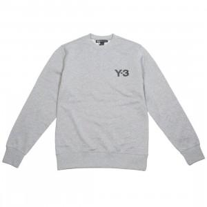 Adidas Y-3 Men Classic Logo Front Crew Sweater (gray / heather)