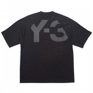 Adidas Y-3 Men Classic Logo Back Short Sleeve Tee (black)