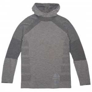 Adidas x Undefeated Men Primeknit Long Sleeve Tee (gray / cinder / utility black)