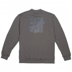 Adidas x Undefeated Men Running Crew Sweater (gray / cinder / utility black)