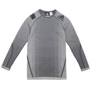Adidas x Undefeated Men Alphaskin Tech Heat Tee (gray / solid grey / utility black)
