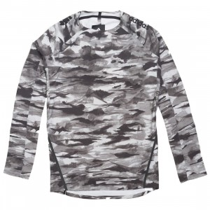 Adidas x Undefeated Men Alphaskin 360 1/1 Top Long Sleeve Tee (black / white / shift grey)