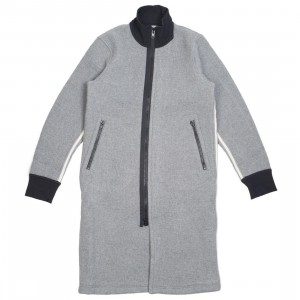 Adidas Y-3 Men Spacer Wool Coat (gray / grey heather / off white / black)