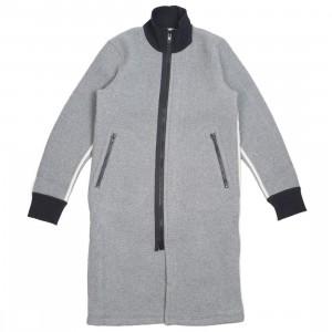 Adidas Y-3 Men Spacer Wool Coat (gray / grey heather / off white / black)