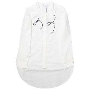 Adidas Y-3 Women Tie-Cord Shirt (white / black)