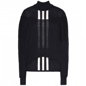 Adidas Y-3 Women Layered Knitted Crop Sweater (black)