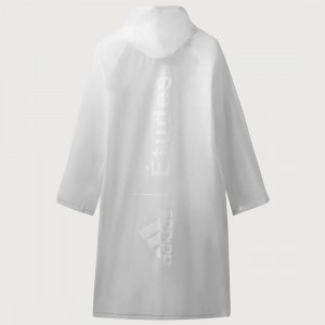 Adidas Consortium x Etudes Men Rain Cape (white / clear / blue)