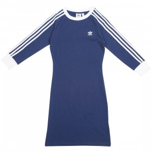 Adidas Women 3-Stripes Dress (blue / dark blue)
