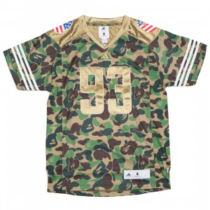Adidas x Bape Men Football Jersey (camo / green camo)