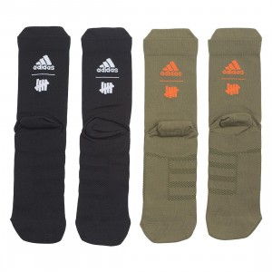 Adidas x Undefeated Men 2 Pairs Socks (black / olive cargo / orange / white)