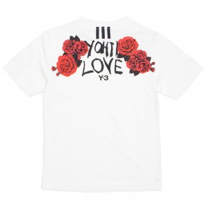 Adidas Y-3 Women Yohji Love Tubular Short Sleeve Tee (white)
