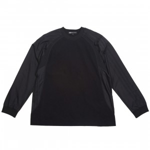 Adidas Y-3 Men 3 Stripes Light Nylon Mix Long Sleeve Tee (black)