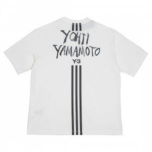 Adidas Y-3 Men Signature Graphic Short Sleeve Tee (white)