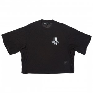 Adidas Y-3 Women Yohji Love Sheer Short Sleeve Tee (black)