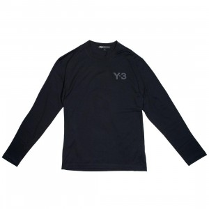 Adidas Y-3 Men Logo Long Sleeve Tee (black)