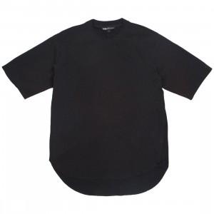 Adidas Y-3 Men Tencel Cotton Long Crew Short Sleeve Tee (black)