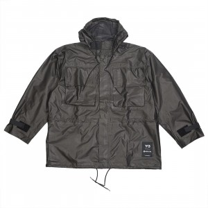 Adidas Y-3 Men Gore Tex Hooded Utility Jacket (gray / ash)