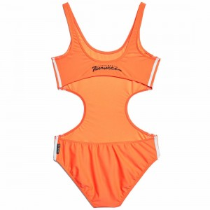Adidas x Fiorucci Women Cutaway Swimsuit (orange / solar orange)
