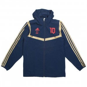 Adidas Men Predator Zinedine Zidane Hooded Jacket (navy / collegiate navy / red)