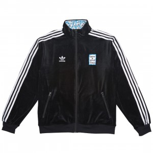 Adidas x Have A Good Time Men Velour Track Top Jacket (black)
