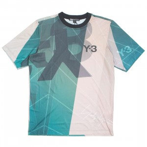 Adidas Y-3 Men AOP Football Shirt (green / sail salty champagne aop)