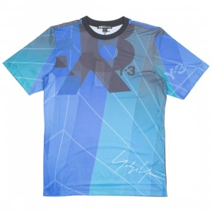 Adidas Y-3 Men AOP Football Shirt (green / sail petrol green aop)