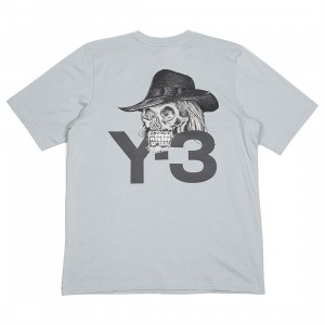 Adidas Y-3 Men Yohji Skull Short Sleeve Tee (gray / kumo grey)