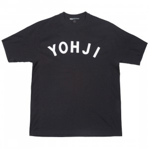 Adidas Y-3 Men Yohji Letters Short Sleeve Tee (black / off white)