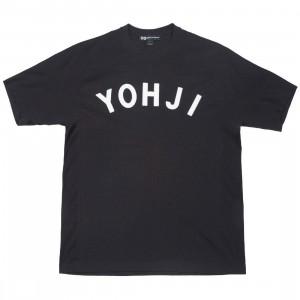 Adidas Y-3 Men Yohji Letters Short Sleeve Tee (black / off white)