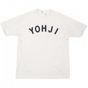 dd221a74 Adidas Y-3 Men Yohji Letters Short Sleeve Tee (beige / ecru / legend