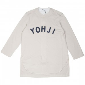 Adidas Y-3 Men FT Yohji Letters Baseball Shirt (beige / ecru / legend ink)