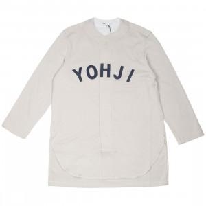 Adidas Y-3 Men FT Yohji Letters Baseball Shirt (beige / ecru / legend ink)
