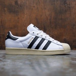 Adidas Men Superstar (white / core black / blue)