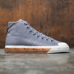 Adidas x Human Made Men Nizza Hi (gray / grey five)