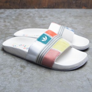 Adidas x Bristol Studio Men Adilette Slides (white / cloud white / customized)