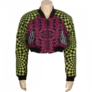 Adidas Women JS Opart Rever Jacket - Jeremy Scott (acid buzz / intense pink)