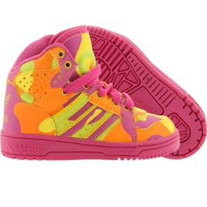 Adidas Toddlers ObyO JS Instinct High Neoncamo - Jeremy Scott (slime / vivid yellow / orange)