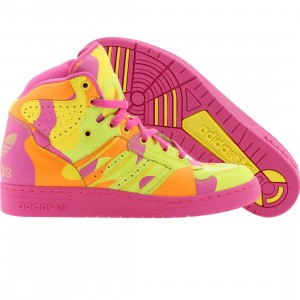 Adidas Men ObyO JS Instinct High Neon Camo - Jeremy Scott (slime / vivid yellow / lorang)