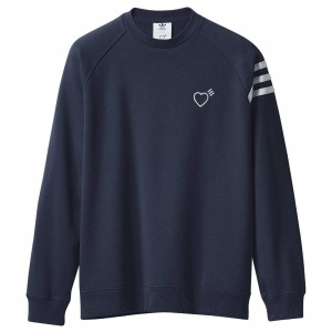 Adidas x Human Made Men Sweat Shirt (navy / collegiate navy)