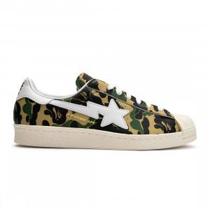 Adidas x Bape Men Superstar 80s (camo / off white / footwear white / gold metallic)