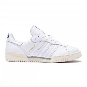 Adidas Men Burnden SPZL (white / chalk white / power blue)