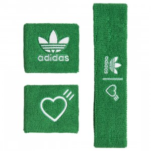 Adidas x Human Made Wristbands And Headband (green / white)