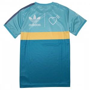 Adidas x Human Made Men Graphic Tee (blue / light aqua / st fading ocean)